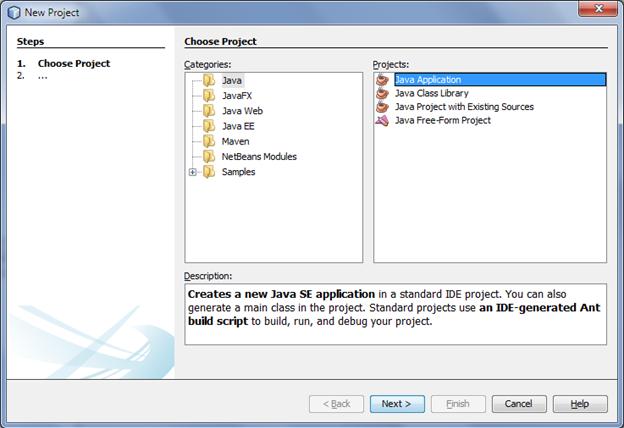 Create Java Application