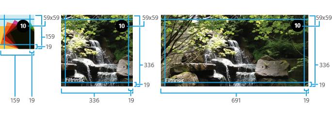 Kích thước của các thành phần trong một Cycle Tile