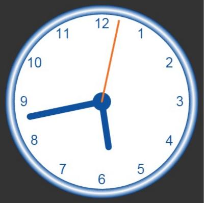 canvas - clock