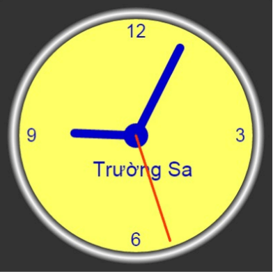 canvas - corlor clock