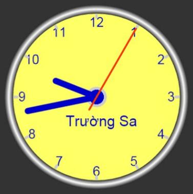 canvas - long pointer clock