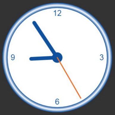 canvas - numberless clock