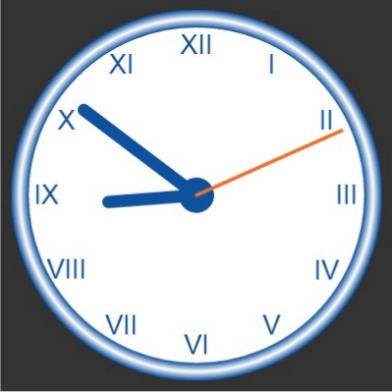 canvas - roman clock